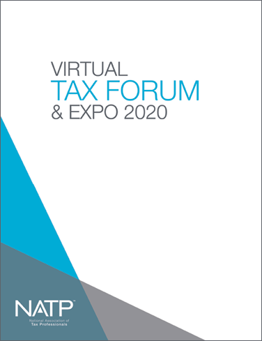 2020 NATP Virtual Tax Forum Session Handouts - #TF2020BOOK