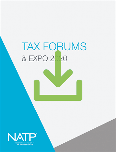 2020 NATP Tax Forum Recording and E-book Session Handouts (2020) - #TF20RE