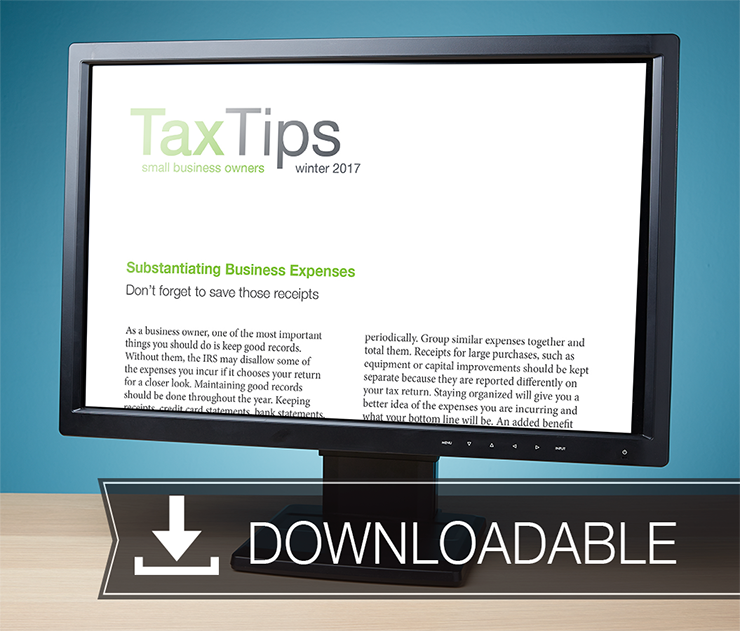 Tax Tips Client Newsletters – Downloadable – (Winter 2017/2018) - #TTD3740