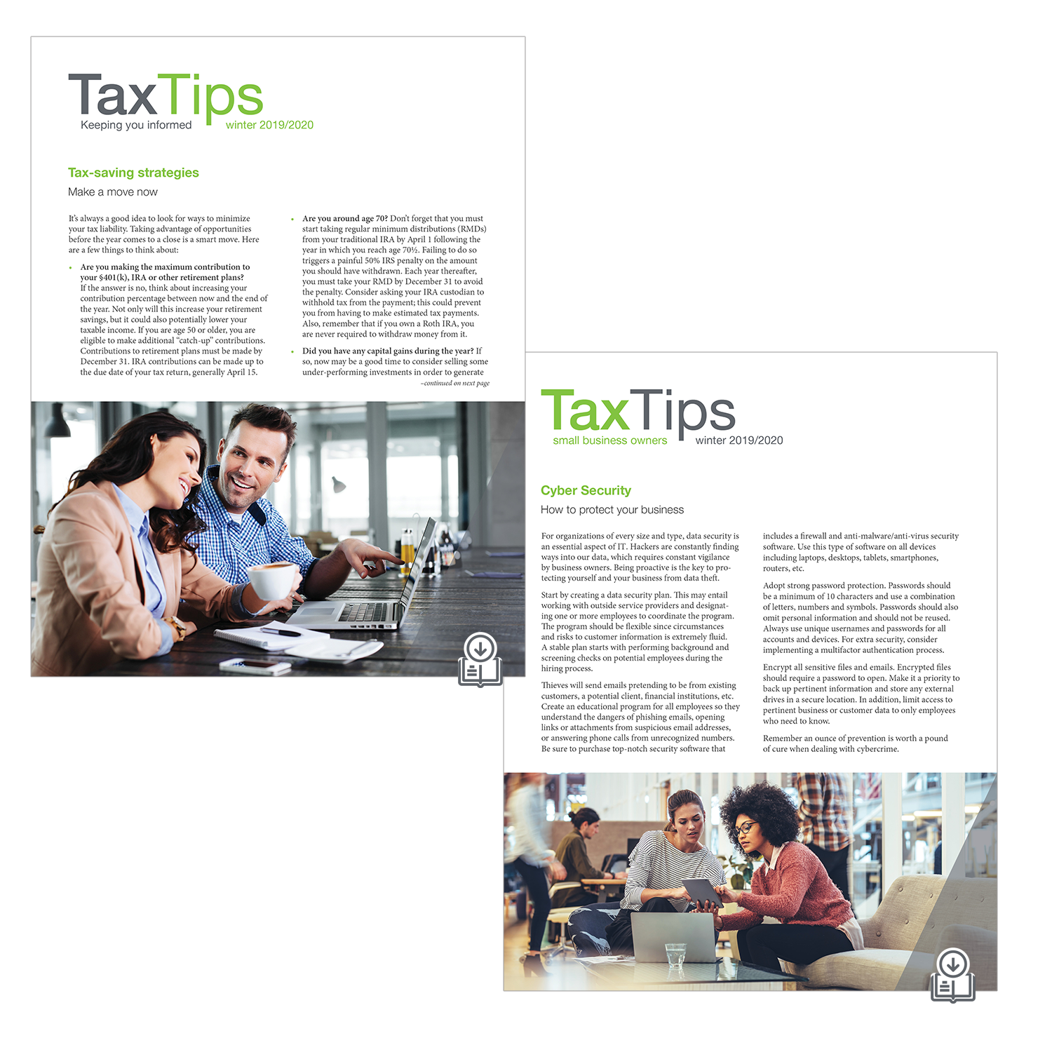 Tax Tips Client Newsletters – Downloadable – (Winter 2020/2021) - #TTD32040