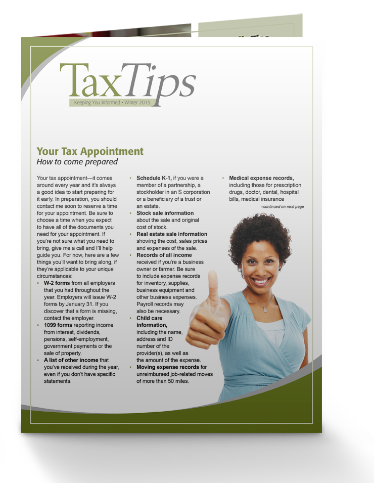 Tax Tips – Individual – Single Fold - (Winter 2016/17) - #TTS3630