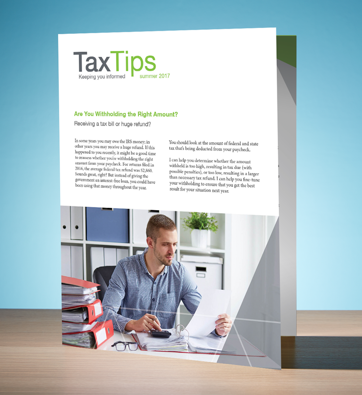 Tax Tips – Individual – Single Fold (Summer 2017) - #TTS3710
