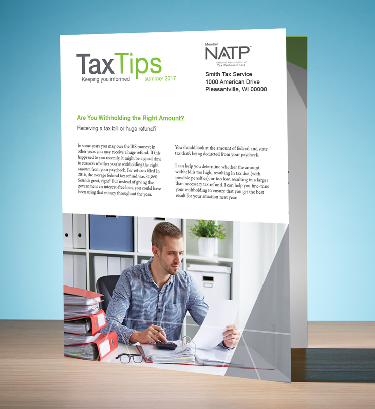 Tax Tips – Individual – Single Fold - Personalized (Summer 2017) - #TTS3715