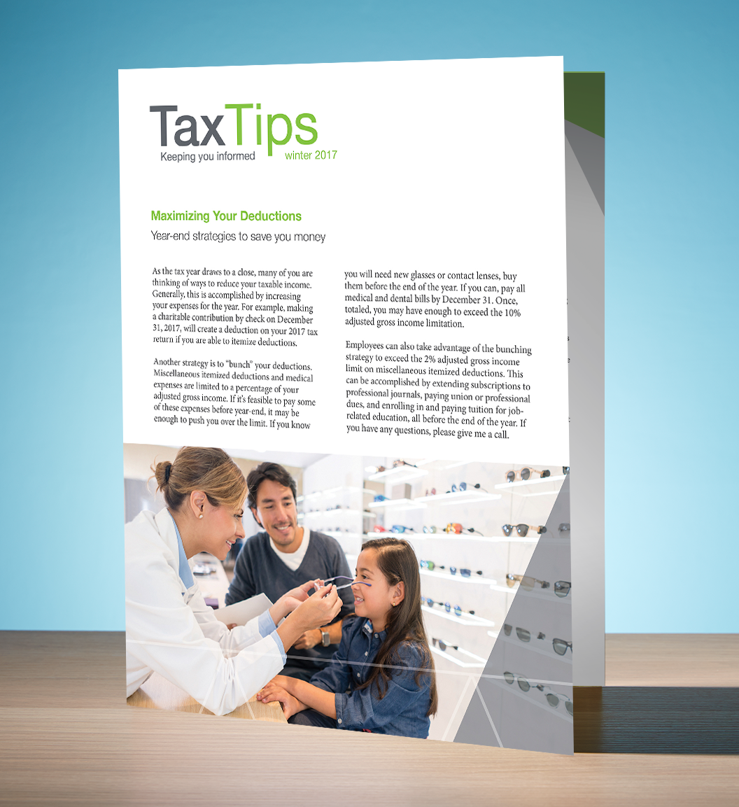 Tax Tips – Individual – Single Fold - (Winter 2017/2018) - #TTS3730