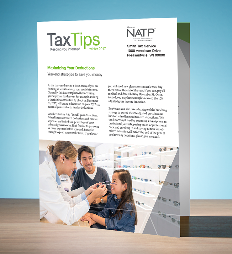 Tax Tips – Individual – Single Fold - Personalized (Winter 2017/2018) - #TTS3735