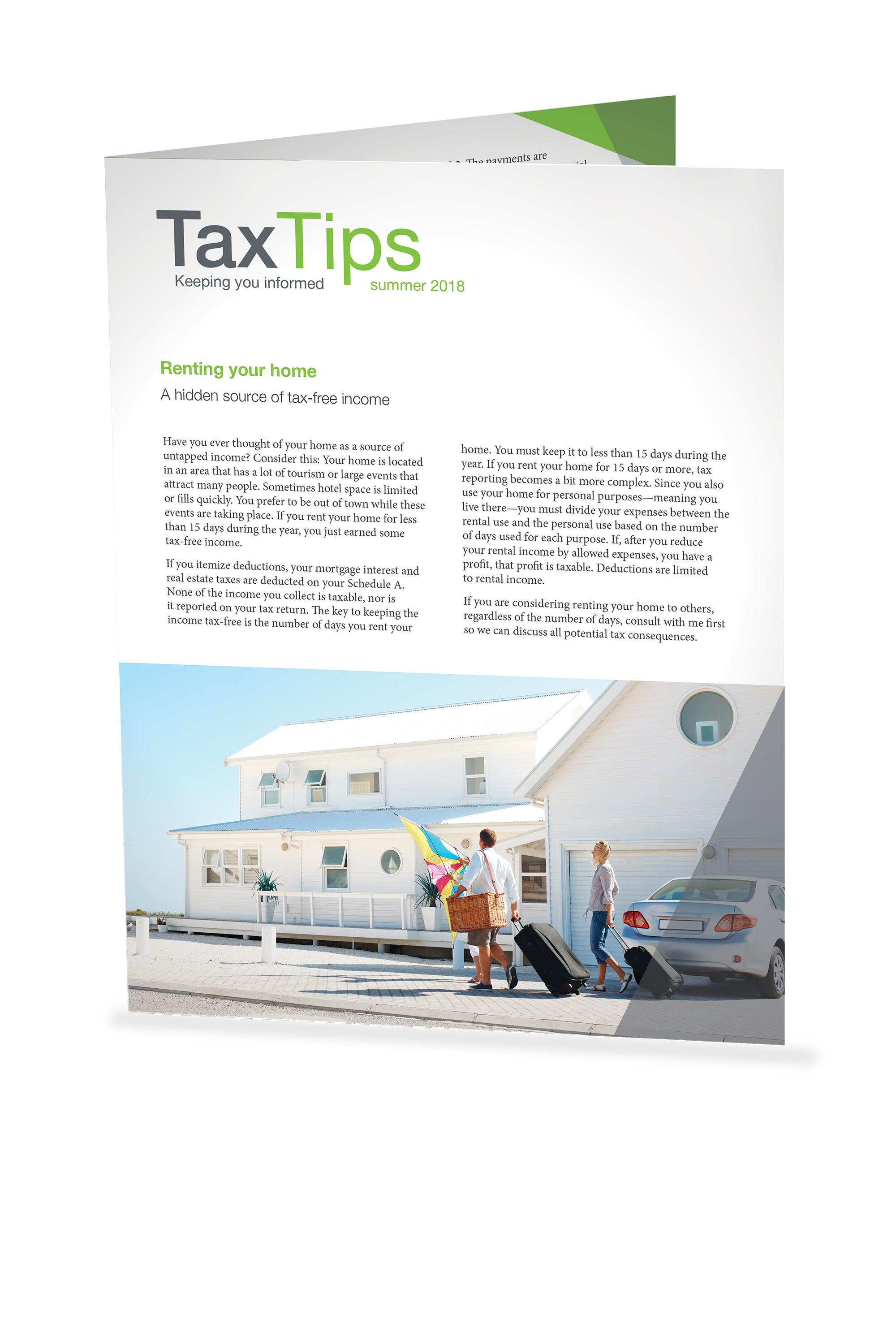 Tax Tips - Individual - Single Fold (Summer 2018) - #TTS3810