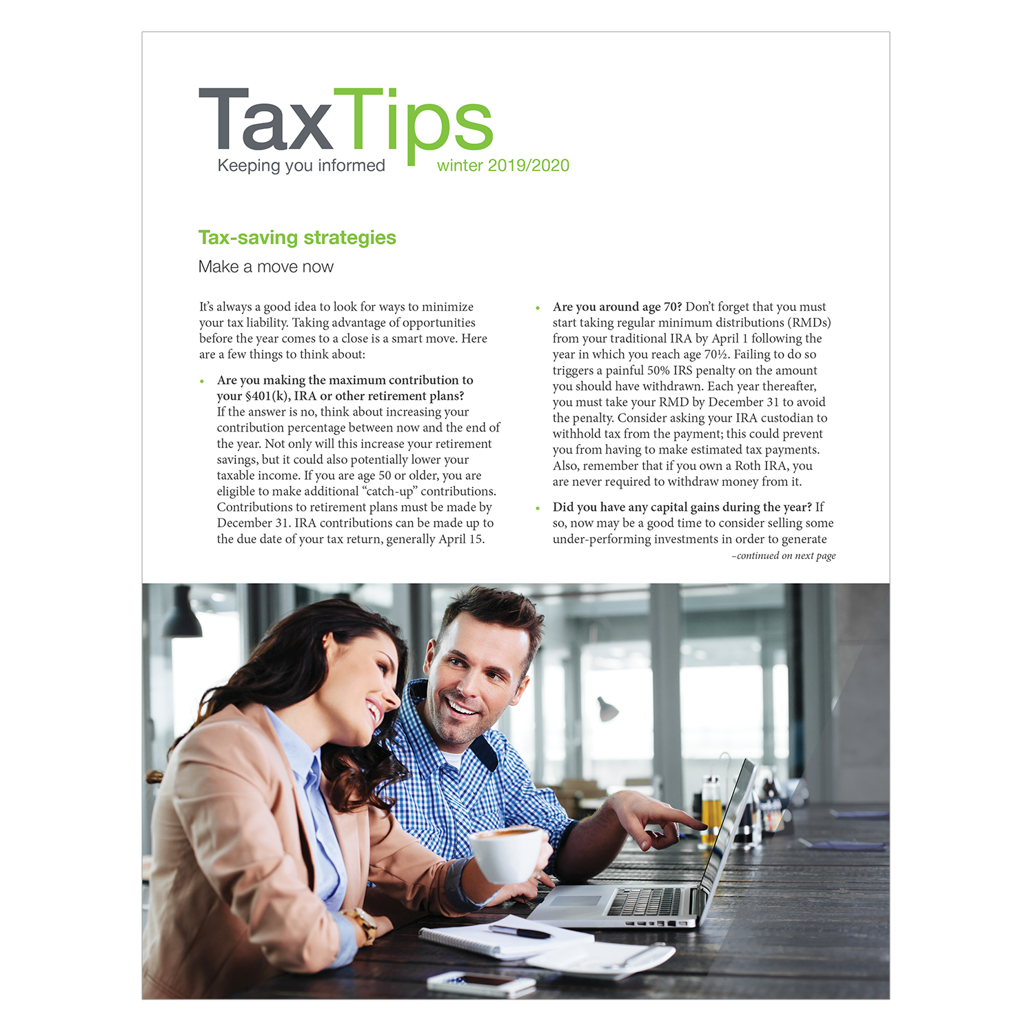 Tax Tips – Individual – Single Fold - (Winter 2019/2020) - #TTS3930