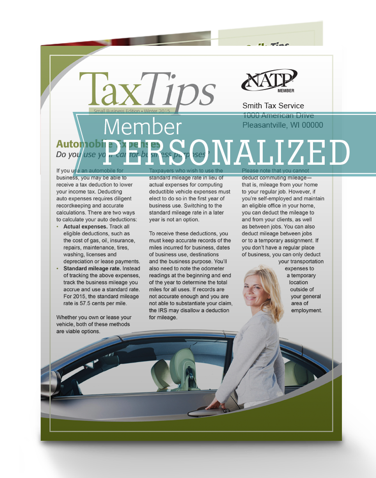 Tax Tips – Business – Single Fold - Personalized (Winter 2016/17) - #TTSB3635