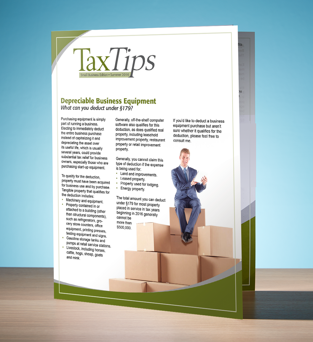 Tax Tips – Business – Single Fold - (Summer 2016) - #TTSB3610