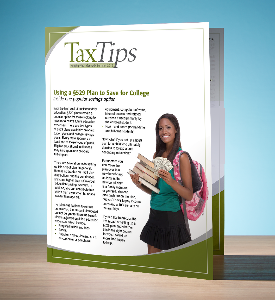 Tax Tips – Individual – Single Fold - (Summer 2016) - #TTS3610
