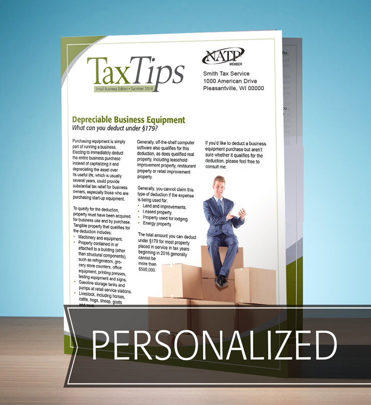 Tax Tips – Business – Single Fold - Personalized (Summer 2016) - #TTSB3615