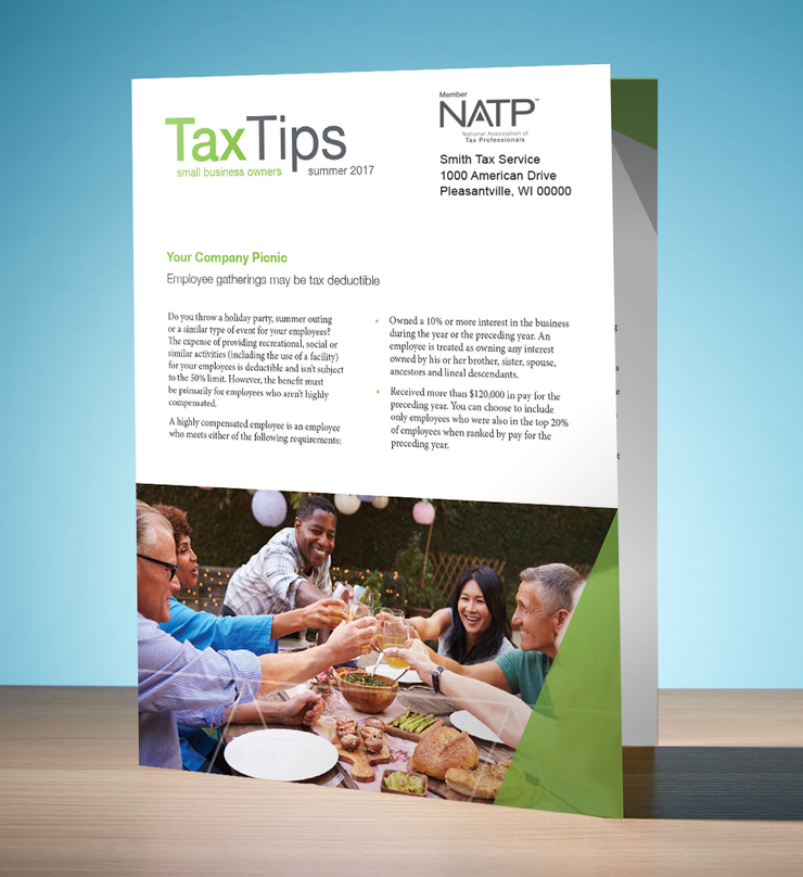 Tax Tips – Business – Single Fold - Personalized (Summer 2017) - #TTSB3715