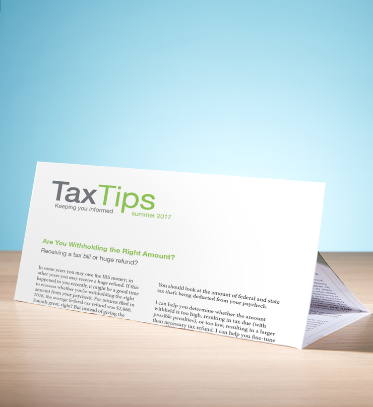 Tax Tips - Individual - Trifold - (Summer 2018) - #TTT3810