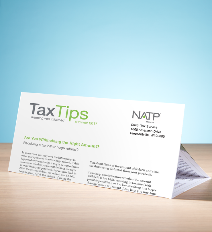 Tax Tips – Individual – Tri-Fold - Personalized (Summer 2017) - #TTT3715