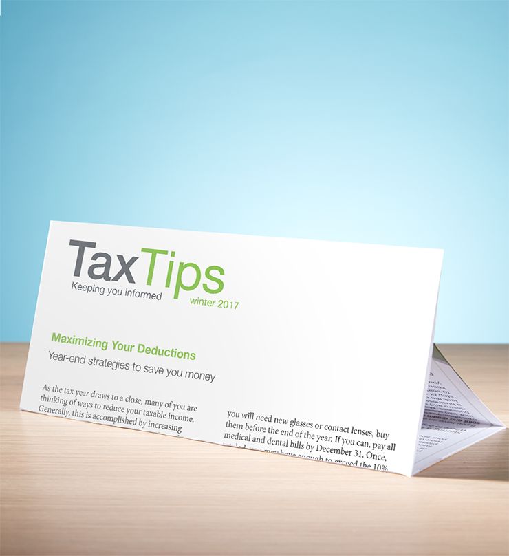Tax Tips – Individual – Tri-Fold (Winter 2017/2018) - #TTT3730