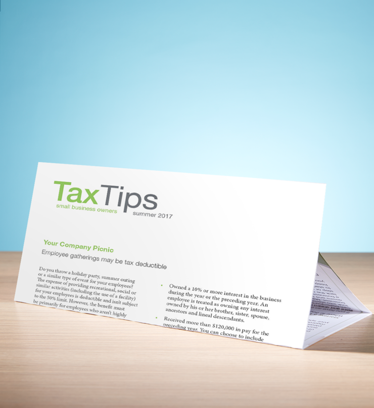 Tax Tips – Business – Tri-Fold - (Summer 2017) - #TTTB3710