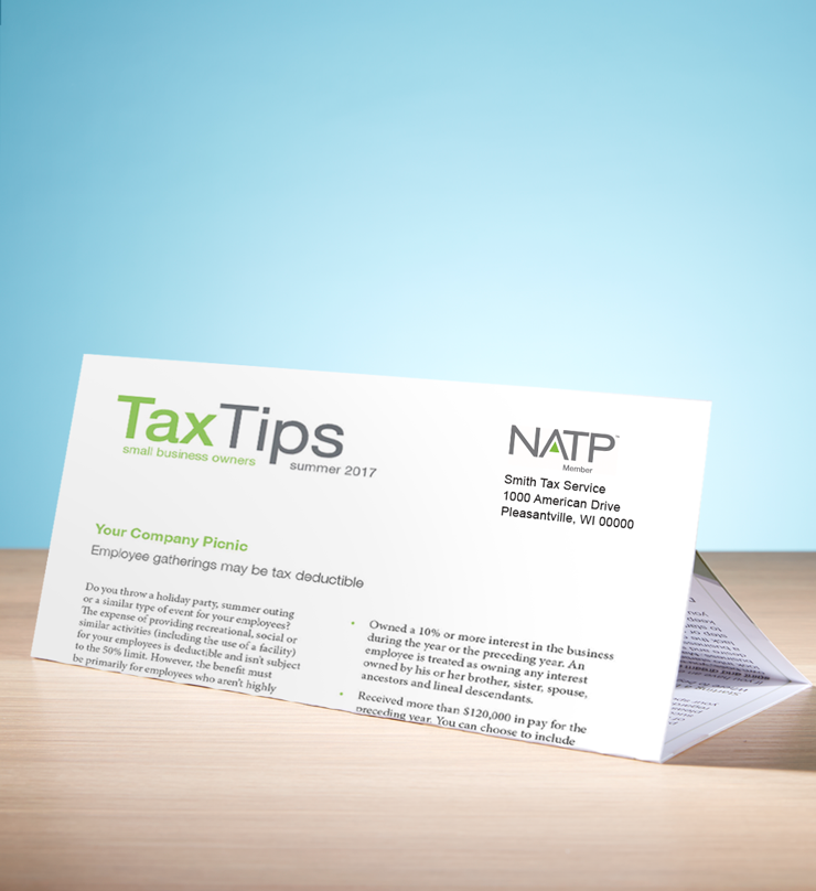 Tax Tips – Business – Tri-Fold - Personalized (Summer 2017) - #TTTB3715