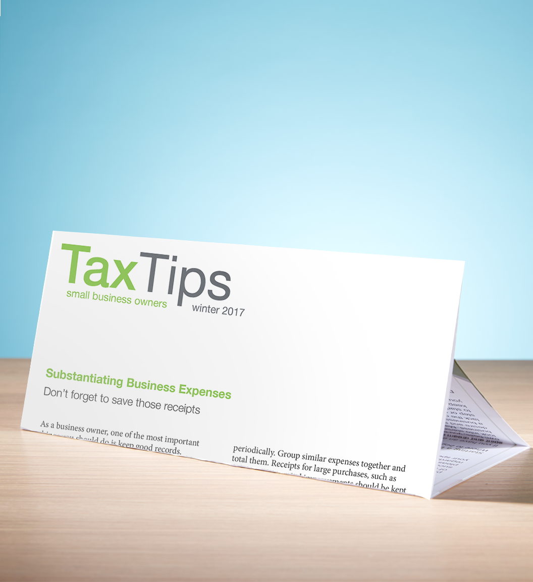 Tax Tips – Business – Tri-Fold (Winter 2017/2018) - #TTTB3730