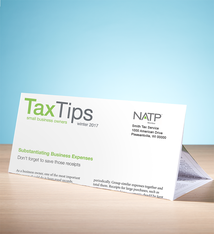 Tax Tips – Business – Tri-Fold - Personalized (Winter 2017/2018) - #TTTB3735