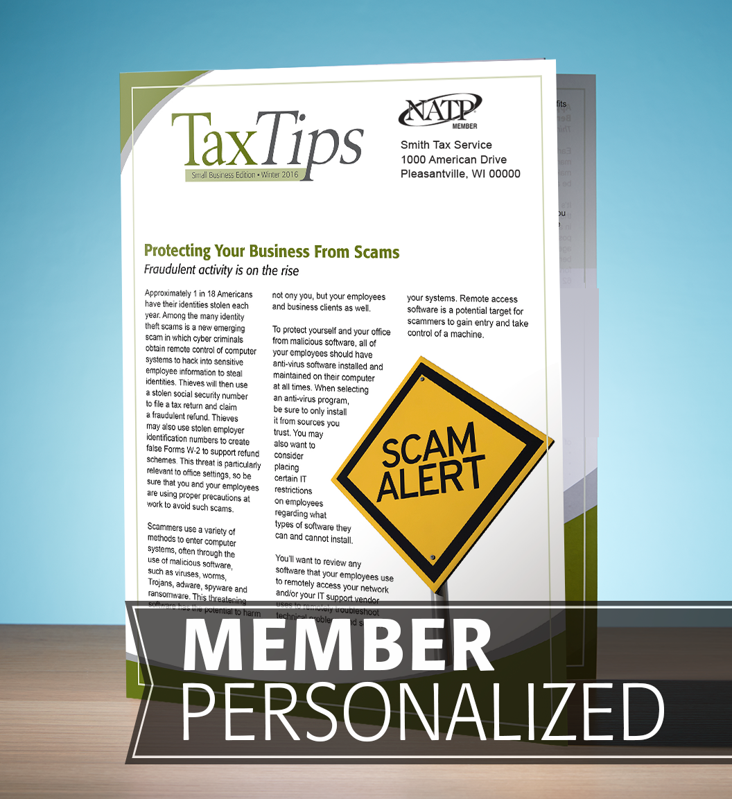 Tax Tips – Business – Tri-Fold - Personalized (Winter 2016/17) - #TTTB3635