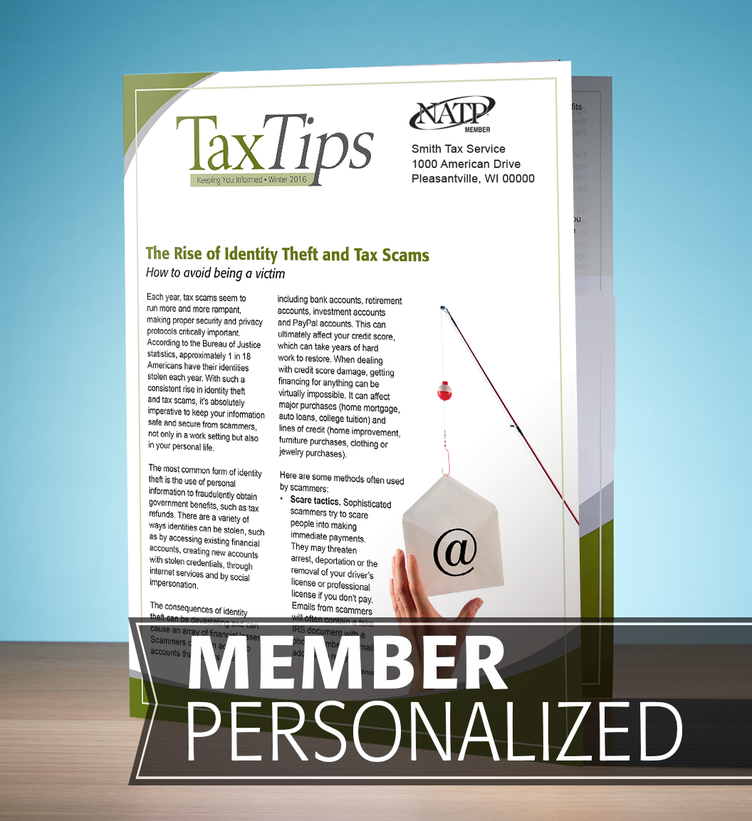 Tax Tips – Individual – Single Fold - Personalized (Winter 2016/17) - #TTS3635