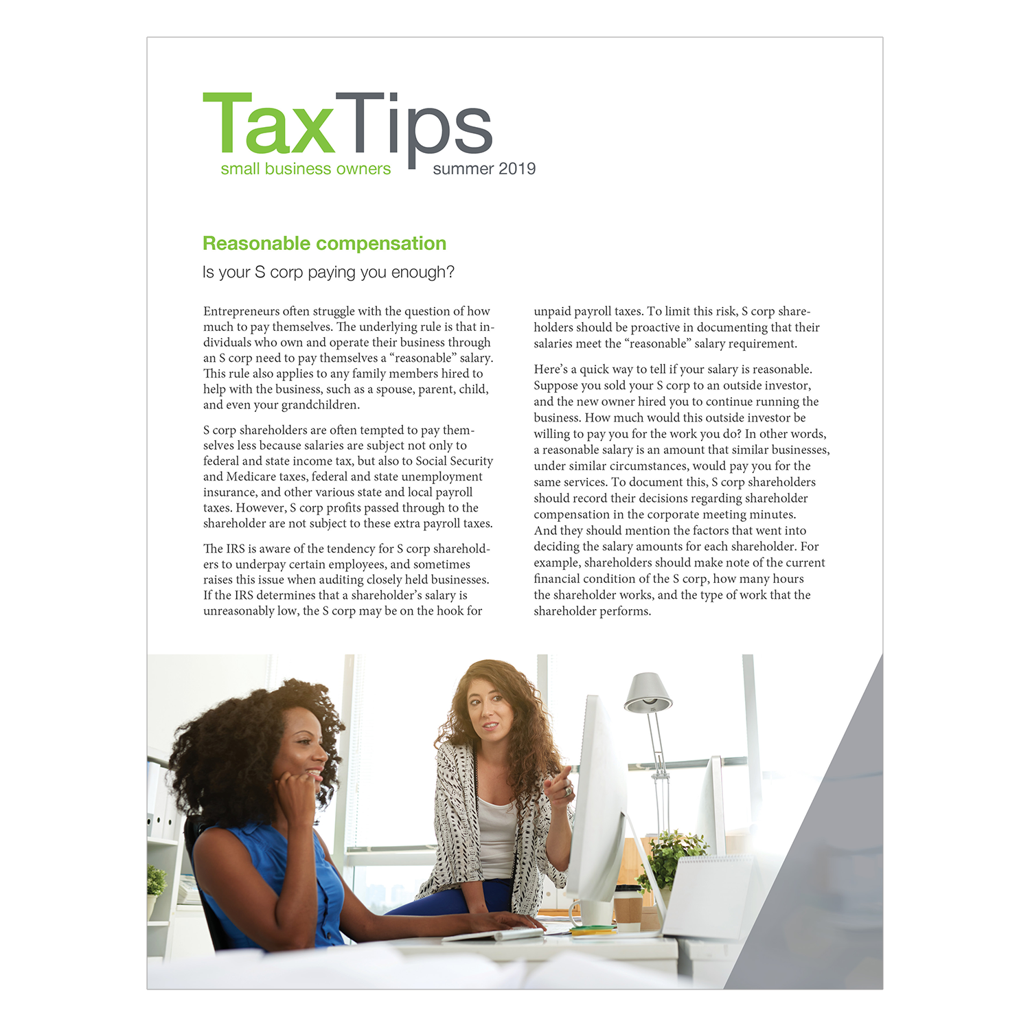 Tax Tips – Business – Single Fold - (Summer 2019) - #TTSB3910