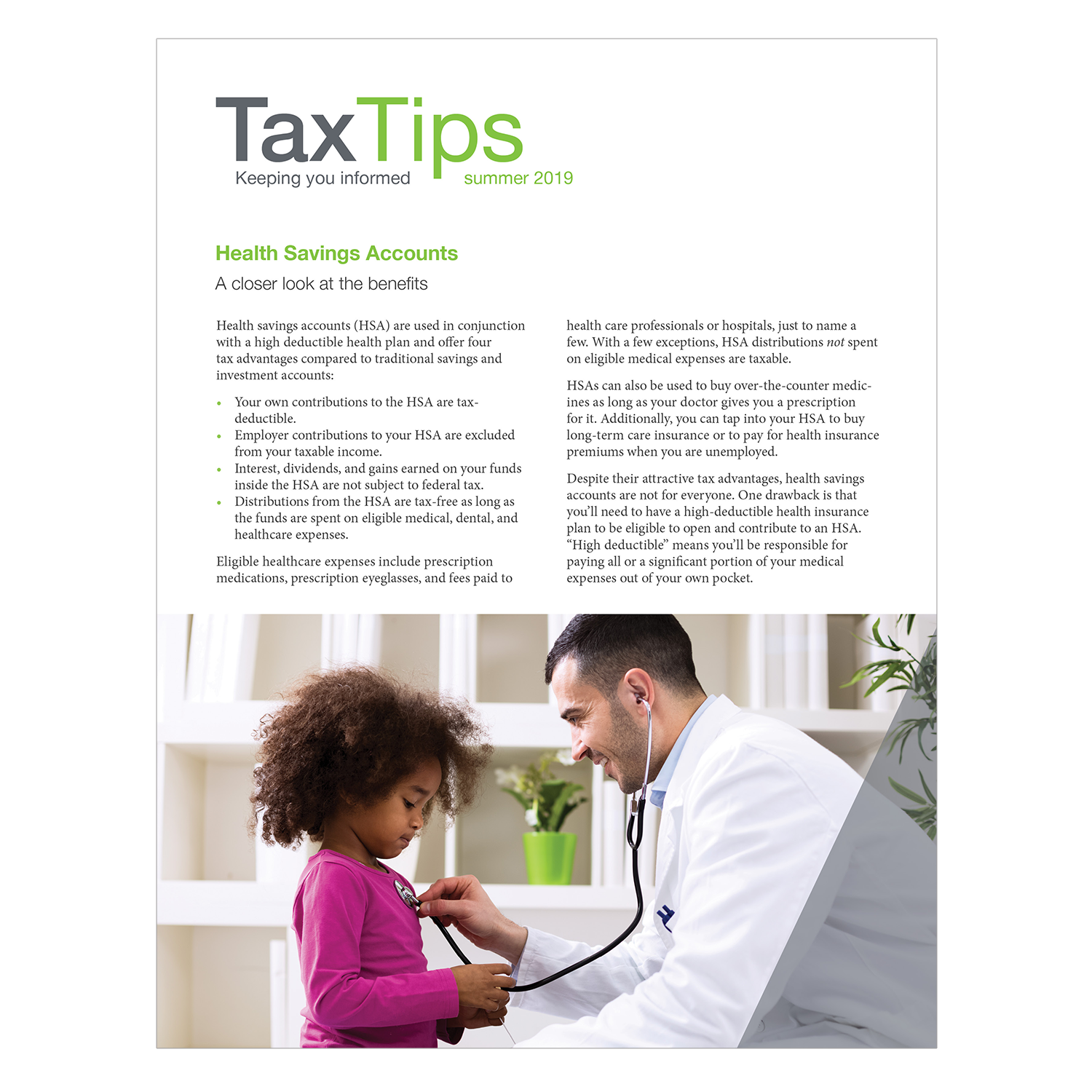 Tax Tips – Individual – Single Fold - (Summer 2019) - #TTS3910